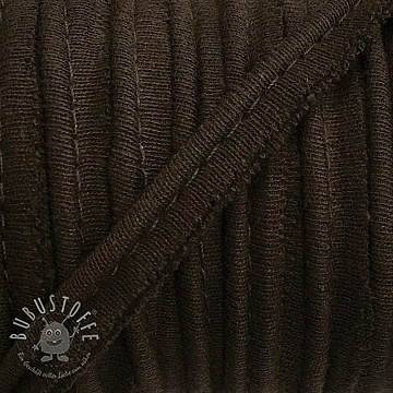 Paspelband jersey brown