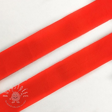 Elastisches Schrägband Polyamide matt 20 mm neon orange