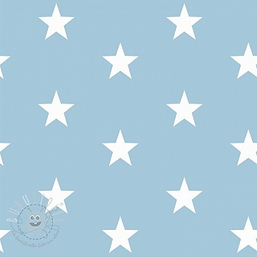 Baumwollstoff Stars light blue