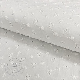 Baumwoll Stickerei Madeira off white 1