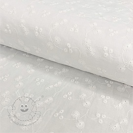 Baumwoll Stickerei Madeira off white 3