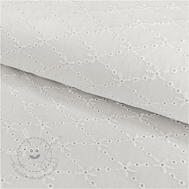 Baumwoll Stickerei Madeira off white 8