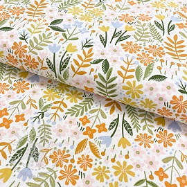 Baumwollstoff  Brushed bloom white