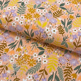 Baumwollstoff  Brushed bloom peach