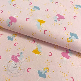 Baumwollstoff GOTS Magical night light rose