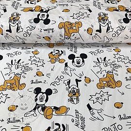 Baumwollstoff Mickey and friend Pluto digital print