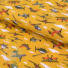 Baumwollstoff The Sky is the limit yellow