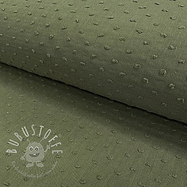 Cotton voile Dotty army