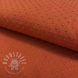 Cotton voile Dotty rust