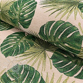 Dekostoff GOBELIN TROPICAL LEAVES JUNGLE