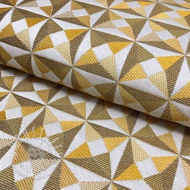 Dekostoff jacquard Cinetique gold