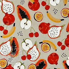 Dekostoff Linenlook Fruits
