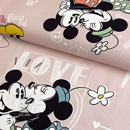 Dekostoff Mickey Mouse I love you digital print