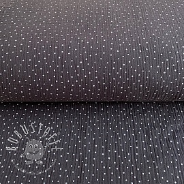 Double gauze/muslin Dots dark grey