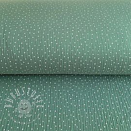 Double gauze/muslin Dots green