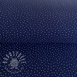 Double gauze/muslin Dots navy