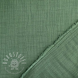 Double gauze/musselin Bamboo old green