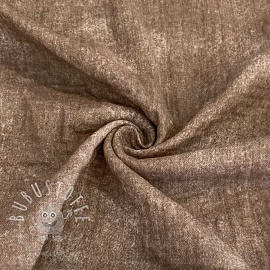 Double gauze/musselin Crinkled Jeans taupe