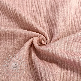Double gauze/musselin Melange old pink