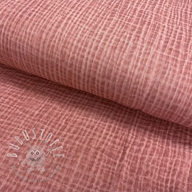 Double gauze/musselin Snoozy fabrics Dirty wash old pink