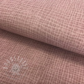 Double gauze/musselin Snoozy fabrics Dirty wash washed pink