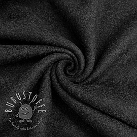 Fleece baumwoll anthracite melange