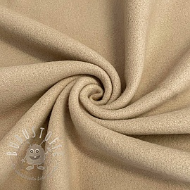 Fleece baumwoll sand