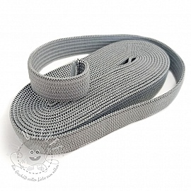 Gummiband 10 mm light grey 2 m Karte