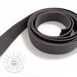 Gummiband 15 mm dark grey