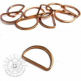 Halbringe 25 mm copper