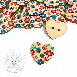 Holzknopf Heart Buttercup
