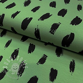 Jersey Charcoal stripes green