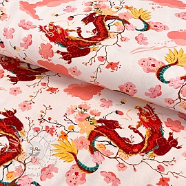 Jersey Chinese dragons digital print