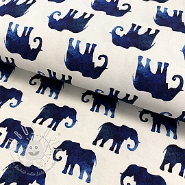 Jersey Elephant off white digital print