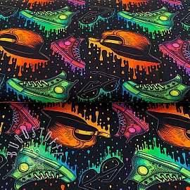 Jersey Old school trend black digital print