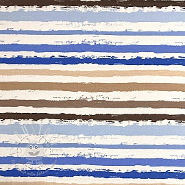 Jersey Snoozy Stripes blue digital print