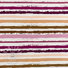 Jersey Snoozy Stripes pink digital print