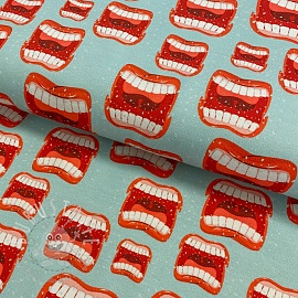Jersey Teeth digital print