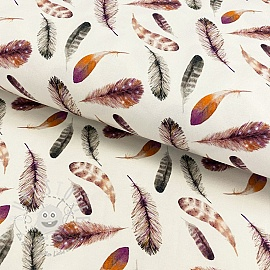 Jersey Ziva feathers digital print