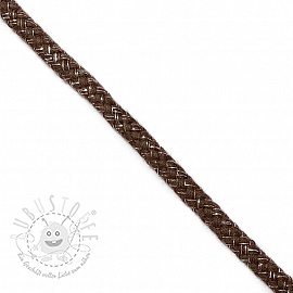 Lurexkordel 10 mm brown
