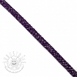 Lurexkordel 10 mm purple