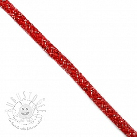 Lurexkordel 10 mm red
