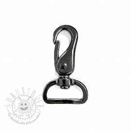 Metall Karabiner 25 mm anthracite
