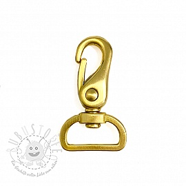Metall Karabiner 25 mm gold