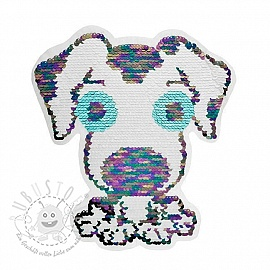 Pailletten reversibel Doggy white