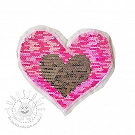 Pailletten reversibel Heart mini pastel pink