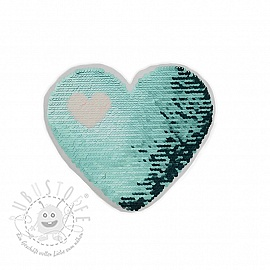 Pailletten reversibel Love is in the air blue