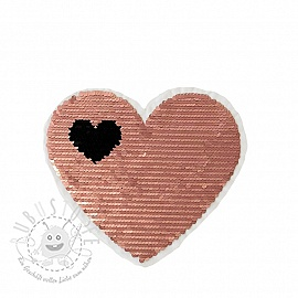 Pailletten reversibel Love is in the air rose