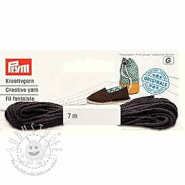 PRYM LOVE Espadrilles Kreativgarn chocolate