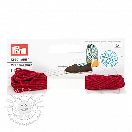 PRYM LOVE Espadrilles Kreativgarn red
